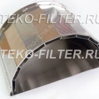 Arched filter element